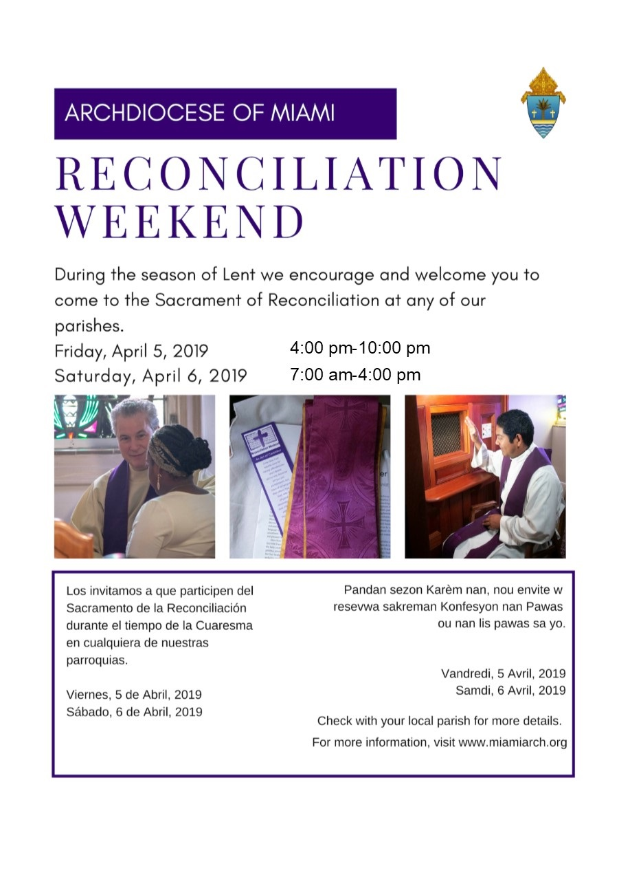 reconciliation weekend